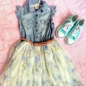 Arizona Kids Denim Lace Dress Shoes Lot
